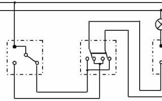 Промежуточный выключатель схема подключения