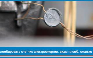Пломба на счетчике электроэнергии