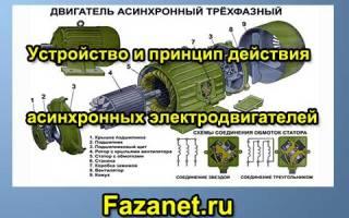 Принцип работы асинхронного двигателя с короткозамкнутым ротором