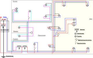 Схема проводки в однокомнатной квартире