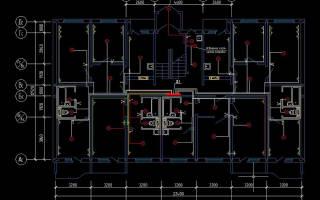 Схема электропроводки в квартире панельного дома