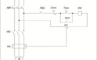 Схема реверса трехфазного двигателя