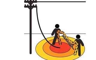 Как необходимо передвигаться в зоне шагового напряжения
