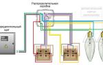 Схема включения проходного выключателя из двух мест