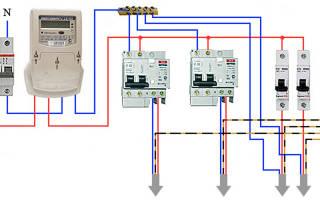 Как подключить дифференциальный автомат в щитке