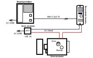 Подключение домофона схема