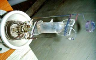 Схема подключения лампы дрл через дроссель