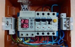 Реле контроля напряжения 3 фазное схема подключения