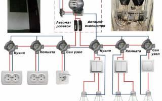 Электропроводка в панельном доме схема