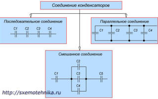 Последовательное подключение конденсаторов