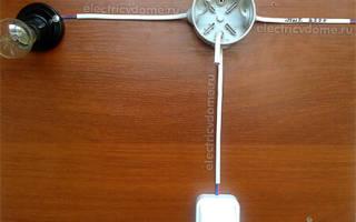 Схема одноклавишного выключателя