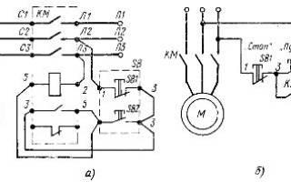 Схема нереверсивного магнитного пускателя