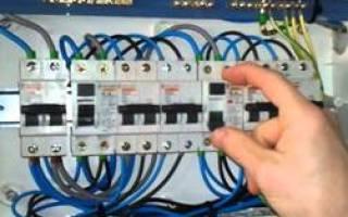 Дифференциальный автоматический выключатель схема подключения