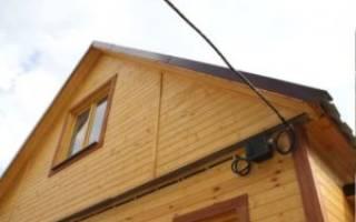 Ввод кабеля в деревянный дом