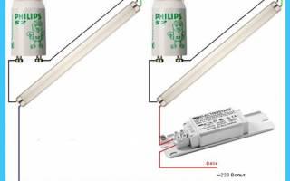 Схема балласта люминесцентной лампы